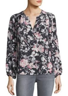Joie Odelette Floral-Print Silk Blouse