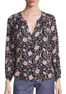Joie Odelette Native Floral Print Silk Blouse