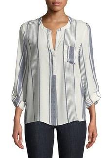 Joie Oden Long-Sleeve Tea-Stripe Blouse