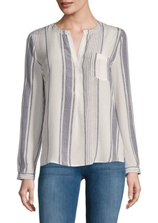 Oden Stripe Silk Blouse