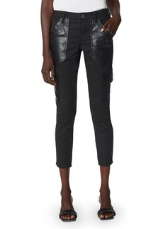Joie Okana Faux Leather Trimmed Cropped Pants