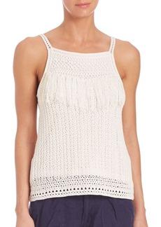 Joie Olesia Crochet Fringe Tank Top