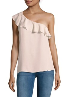 Joie One-Shoulder Silk Top