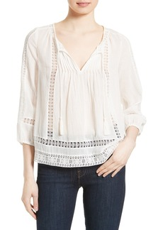 Joie Ora Cotton Peasant Top