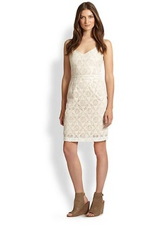 Joie Orchard Cotton Crocheted Dress