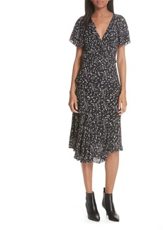 Joie Orita Ruffled Floral Midi Dress