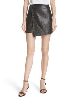 Joie Orlanda Studded Leather Miniskirt