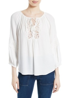 Joie Orval Lace Inset Top