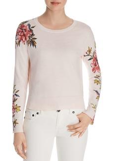 Joie Paari Floral-Sleeve Sweater