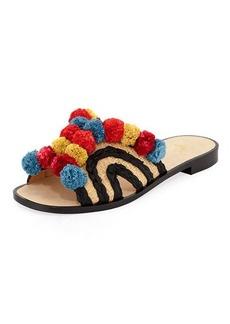Joie Paden Pompom Flat Slide Sandal