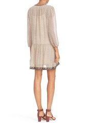 Joie 'Paradiso' Embroidered Print Silk Drop Waist Dress