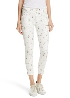 Joie Park Floral Skinny Cargo Pants