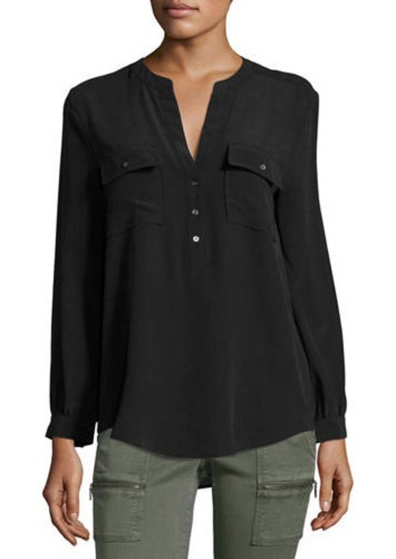 Joie Pauline Long-Sleeve Silk Blouse