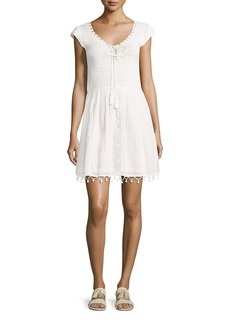 Joie Paxti Embroidered Cotton Dress