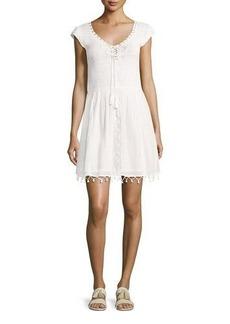Joie Paxti Embroidered Cotton Dress