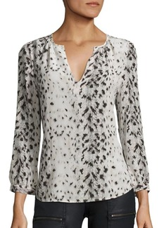 Joie Pearline Printed Silk Blouse