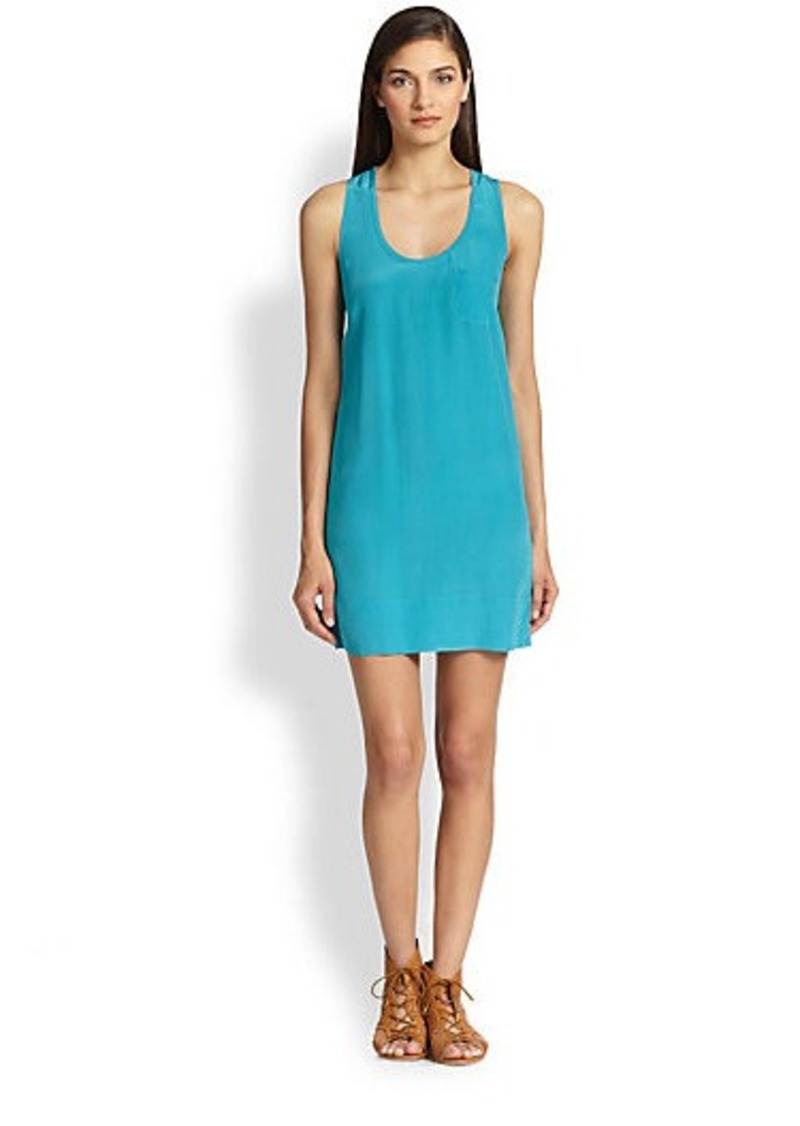 Joie Peri B Silk Racerback Dress