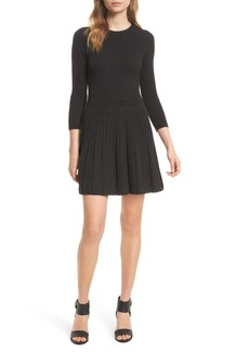 Joie Peronne B Knit Wool & Cashmere Fit & Flare Dress