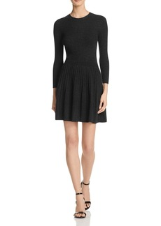 Joie Peronne Wool-Cashmere Pleat Dress