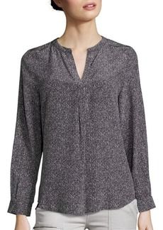 Joie Peterson B Dotted Silk Blouse