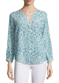 Joie Peterson B Printed Silk Blouse