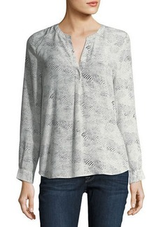 Joie Peterson Dot-Print Silk Blouse