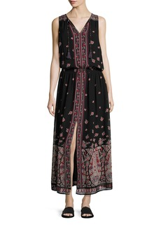 Joie Phanette Printed Silk Maxi Dress