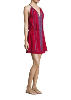 Joie Picard Embroidered Cotton Gauze Dress