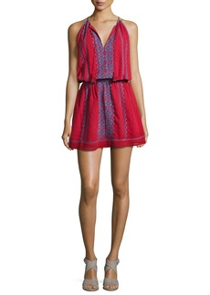 Joie Picard Embroidered Sleeveless Blouson Dress