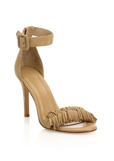 Joie Pippi Fringed Suede Ankle-Strap Sandals