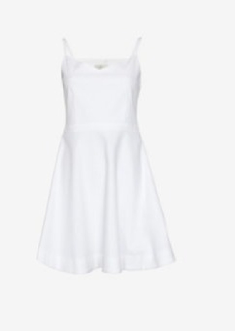 Joie Pique Flare Dress: White