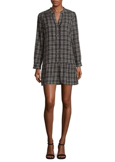 Joie Plaid Cotton Dress