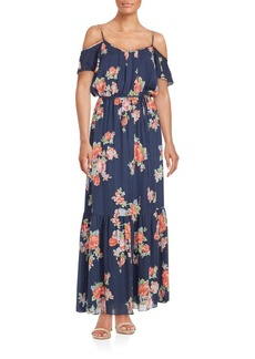 Joie Printed Off-The-Shoulder Dress