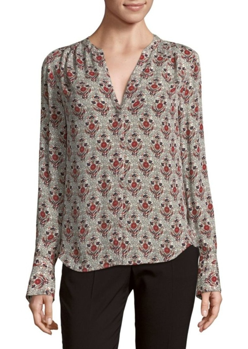 Joie Printed Silk Blouse