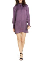 Joie Prynn Ruffle Neck Long Sleeve Shirtdress