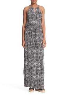 Joie 'Quinette' Print Blouson Maxi Dress