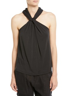 Joie Quintella Twisted-Collar Sleeveless Top