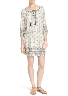 Joie 'Quixota' Embroidered Blouson Dress