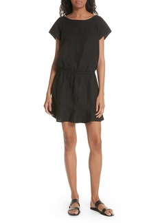 Joie Quora Ruffle Linen Dress