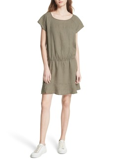 Joie Quora Ruffle Linen Dress