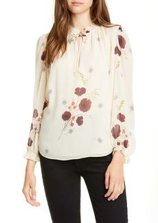 Joie Rafaella Floral Silk Chiffon Top