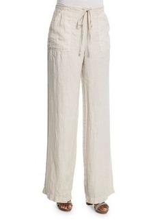 Joie Ragni Linen Wide-Leg Drawstring Pants