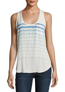Joie Rain B Striped Silk Tank