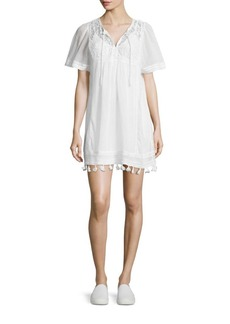 Joie Ralston Cotton Embroidered Dress