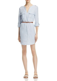 Joie Rathana Belted Military Shirt Dress
