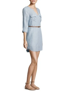 Joie Rathana Linen Belted Dress