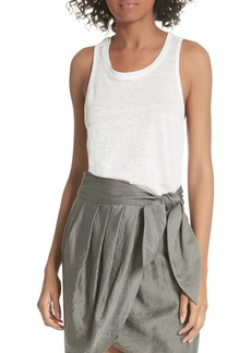 Joie Rayson Twist Back Linen Tank Top