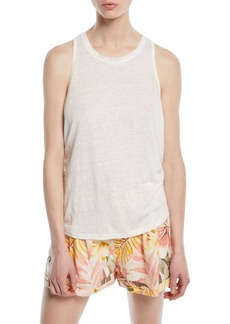 Joie Rayson Twist-Back Linen Tank Top