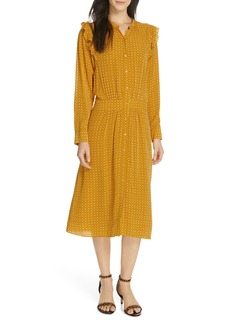 Joie Redson Print Midi Dress
