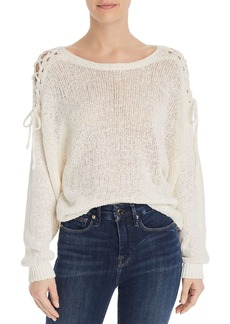 Joie Rhetta Lace-Up-Detail Sweater